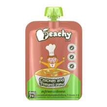 PEACHY Chicken & Tomato Stew Pouch - 125gr