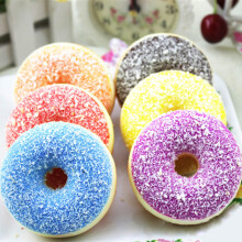 BESSKY Squishy Squeeze Stress Reliever Soft Colourful Doughnut Scented Slow Rising Toys - Multicolor