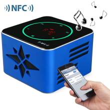 KR - 8100 NFC 3D Sound Wireless Bluetooth V3.0 Light Sensitive Touch Button Stereo Speaker