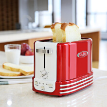 NOSTALGIA ELECTRICS Two-piece Removable Pop-up Hot Dog Toaster Bread Maker DEEP RED EU PLUG