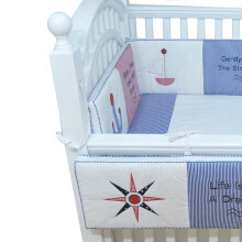 CRIBCOT Nautical Bumpercase + Isi 120x80x30
