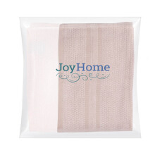 JOYHOME Sport Towel One Stripe Border 425 Gsm Set Of 2 (60cm x 30cm) - Beige & Cream