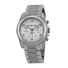 MICHAEL KORS Blair Chronograph Silver Dial Stainless Steel Bracelet Watch [MK5165]
