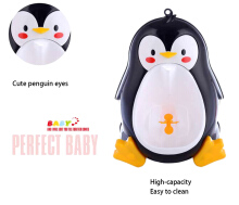 Separable Suspensible Lovely Penguin Shape Boys Standing Urinal (Black)