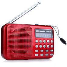 L - 065 Portable AM / FM Radio Music Speaker with USB AUX Audio Playing TF SD Card Slot