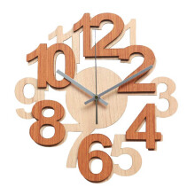 NAIL YOUR ART Numbers I Wall Clock Unik Artistik/32x32Cm