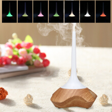 Excelvan Sound Responsive Essential Oil Aroma Diffuser Ultrasonic Humidifier Air Mist Aromatherapy Purifier Light Woodgrain GX-09K EU