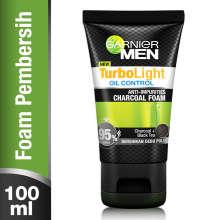 GARNIER Men Turbolight Oil Control Charcoal Black Foam 100ml