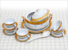 VICENZA Soup Tureen Padi 40 Pcs B692