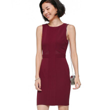 LOVE, BONITO Laronda Panel Dress - Maroon