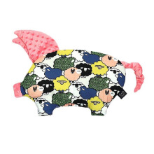 LA MILLOU Sleepy Pig Pillow - Sugar Sheep Coral SP065S