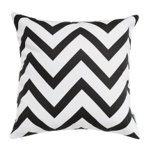 GLERRY HOME DÉCOR BW Chevron Cushion - 40x40Cm