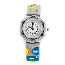 Keymao Space Plastic Waterproof 3D Cute Cartoon  Silicone Wristwatches Gift for Little Girls Boy Kids Children Silver