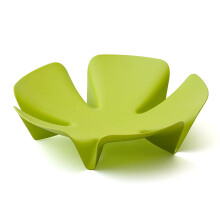QUALY Small Flower Fruit Tray - Green/QL10041GN