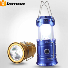 6+1 LED Solar Telescopic Camping Lantern 2 in 1 Portable Lamp USB Multifunctional Flashlight Rechargeable Outdoor Torch