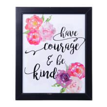 BLOOM & BLOSSOM Have Courage Poster with Frame 25x30cm
