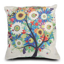 Life Tree Cotton Linen Pillow Cushion Cover Home Decor