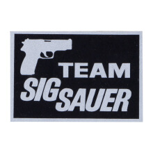 Tactical Series Velcro Patch 5 x 7.25 cm - Team Sig Sauer - Black Silver