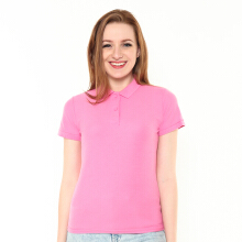 STYLEBASICS Ladies Basic Polo Shirt - Azalea Pink