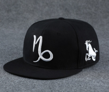BAI B-101 Adjustable Baseball Cap MBL Hiphop cap with Capricorn design black&white color