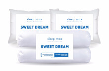 SLEEP MAX Sweet Dream 2 Pillows & 2 Bolsters