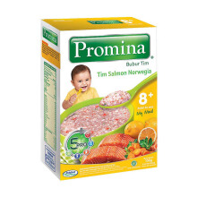 PROMINA 8+ Bubur Salmon Norwegia Box - 100gr