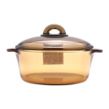 LUMINARC Vitro Amberline Blooming Casserole 2L - Brown (LAVIB1020)