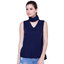 FBW Rosanna Neckline Top - Navy [ALL SIZE]