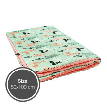 LA MILLOU Minky Calming Thick Blanket - Bambi Deer Coral MB076PK