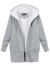ZANZEA Women's Long Hoodie Sweater