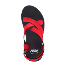 PIERO RONIN SANDALS - RED/BROWN