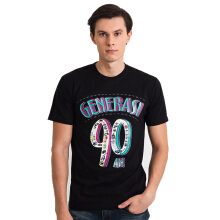 GENERASI 90-AN Logo Short - Black