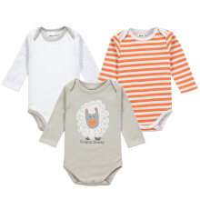 Mother Nest 3 pcs Baby rompers Long Sleeves Autumn Clothing Cute Pure Cotton Fashion Leotard & Pajamas of boys and girls