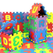 BESSKY 36Pcs Baby Child Number Alphabet Puzzle Foam - Yellow