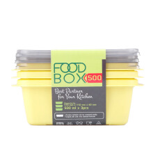 VICTORYHOME Food Box 500ml Set of 3 - Yellow