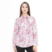 Mobile Power Ladies Tunic Woven Print Corak - Pink C8370