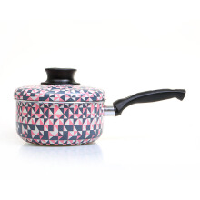 TRAMONTINA Sauce Pan + Tutup Lovely Kitchen Pink Tribal - 16cm/1.5Lt