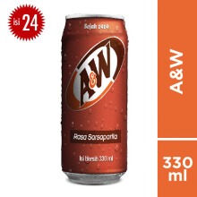 A&W Sarsaparila Can Carton 330ml x 24pcs