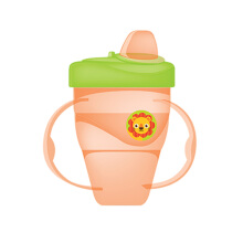 BABY SAFE Cup with Hard Spout 210ml - Orange Lion