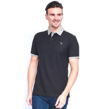 ALINSKIE BROTHERS Mens Polo Shirt Classic Amorf A1041 - Black