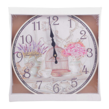 BLOOM & BLOSSOM Wall Clock - Flower & Bird Cage
