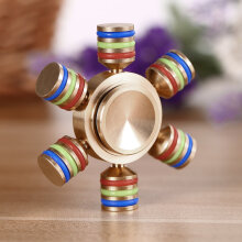 Luminous Attractive Hand Spinner Brass Steel Material For Autism Stress Relief-Multicolor