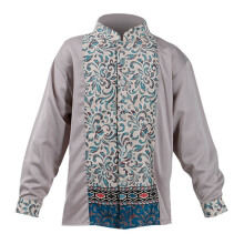 LITTLE SUPERSTAR Koko Shirt 2 Tone LS Grey Batik Cream A038B [3 - 4 S]