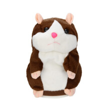 BESSKY Speak Talking Record Hamster Mouse Plush Kids Toys - Coffee