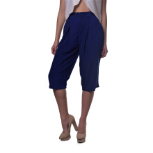 WMN Wmn Cross-Pleated Cropped Pants In - Navy [All Size]