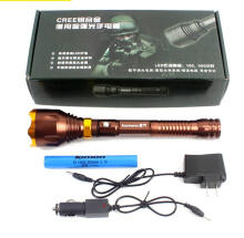 Lomon Super Brightest Telescopic LED Flashlight Car Charger + Charger 18650 Rechargeable Battery Torch High Power Aluminum Flash Torch
