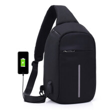 BESSKY Laptop Backpack Crossbody Bags Anti-theft Notebook School Bag With USB Port_