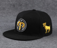 BAI B-204 Adjustable Baseball Cap MBL Hiphop cap with Aries design black&gold color
