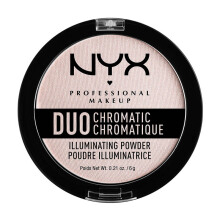 NYX Professional Makeup Duo Chromatic Illuminating Powder - Snow Rose