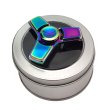 Poweful Colorful Fingertip Hand Spinner Tri-Spinner Toy Helps Relieve Sress-Multicolor